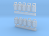 T-01 Cosmetic Modern Flashing Tail Lamps (Pack of  3d printed