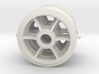 Two 1/16 scale 6 spoked M4 Sherman wheels  3d printed