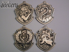 Hufflepuff House Crest - Pendant LARGE 3d printed Stainless Steel - small 5.3cm version