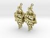 Fractal Earrings - El corazón del matemático 3d printed