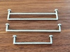 Towel Rail Double 1:12 3d printed Sprayed with chrome paint