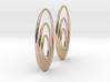 Three Torus Earrings 3d printed