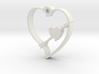 Cupid's Shot Heart Pendant  3d printed