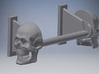 Skull Toilet Paper Holder 3d printed Shown with roller