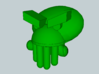 Cthulu Head for Building Toy 3d printed