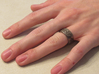 """""""IDIC"""" Vulcan Script Ring - Engraved Style 3d printed Pictured: Polished Nickel Steel"""