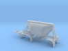 S-scale 1/64 Shorty Dry Bulk Trailer 07a - no axle 3d printed