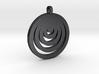 Moon Circles Pendant 3d printed