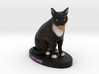 Custom Cat Figurine - Azure 3d printed