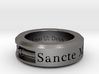 Size 13.5 Saint Michael Ring  3d printed