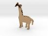 Giraffe Necklace Pendant 3d printed