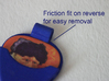 Guitar Pick Holder Pendant 3d printed Rear view showing fit