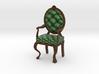 1:12 One Inch Scale PineDark Oak Louis XVI Chair 3d printed