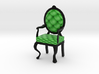 1:12 One Inch Scale LimeBlack Louis XVI Chair 3d printed
