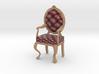 1:24 Half Inch Scale MaroonPale Oak Louis XVI Chai 3d printed