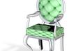 1:48 Quarter Scale MintWhite Louis XVI Chair 3d printed