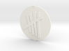 Tally Mark Emblem 2 Inch Pendant 3d printed