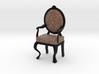 1:12 Scale Giraffe/Black Louis XVI Chair 3d printed