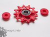 Lightweight Upper Pulley For SRAM XX1 12t 3d printed Red Pulley with a 6800-RS2 bearing pressed in