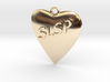 Monogram Heart Pendant 3d printed