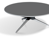 Mid-Century Modern Round Coffee Table 1:48 3d printed
