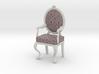 1:12 Scale Purple Damask/White Louis XVI Chair 3d printed