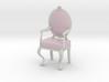 1:12 Scale Pink Striped/White Louis XVI Chair 3d printed