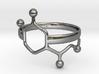Adrenaline Molecule Ring - Size 8  3d printed