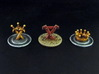 CitOW tokens (26 pcs) - crown, sword, triangle 3d printed Hand-Painted White Strong Flexible