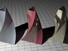 3-sided spiral vase 3d printed Three triangular vases with different materials