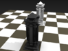 Queen - Mini Chess Piece 3d printed Chess board not included. Multiple pieces shown for multiple colors.