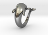 Dolphin Ring size 7- 17 mm diameter 3d printed