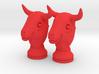 Pair Chess Bull Big | Timur Thaur 3d printed