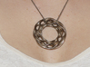 Scherk DD 3d printed Stainless steel print as a necklace