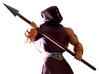 MOTUC Great Rebellion Spear 3d printed Painted Prototype printed in White Strong & Flexible Polished
