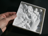 6'' Glacier National Park, Montana, USA, Sandstone 3d printed View of the underside of the model