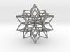 Rhombic star earring 3d printed
