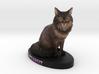 Custom Cat Figurine - Peanut 3d printed