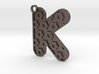 Patterned Letter Steel Keychain 3d printed