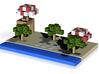 Minecraft Beach Scene 3d printed