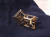 Geometric cufflinks 3d printed Polished brass cufflinks