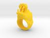 Hippopotamus ring 3d printed