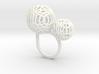 2 Polyps ring--singlefinger ring 3d printed