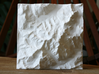 4''/10cm Mt. Blanc, France/Italy 3d printed Top view of 10cm model