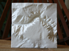 "4'' Black Canyon of the Gunnison, CO, WSF 3d printed Overhead view of 4"" model"