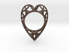 The  Heart ring size 7 1/2 US (17.75 mm) 3d printed