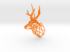 Small Stag Head Facing Right 75mm 1:12 Scale 3d printed