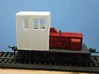 F Scale critter cab 3d printed Side View Mounted on the Modified Chassis