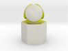 LuminOrb 1.7 - PATIENCE 3d printed Shapeways render of PATIENCE on a matching color Column Display Stand (optional)