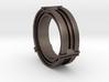 Daletox ring (Size 13) 3d printed